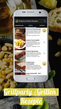Grillparty (Grillen) Rezepte app Deutsch poster
