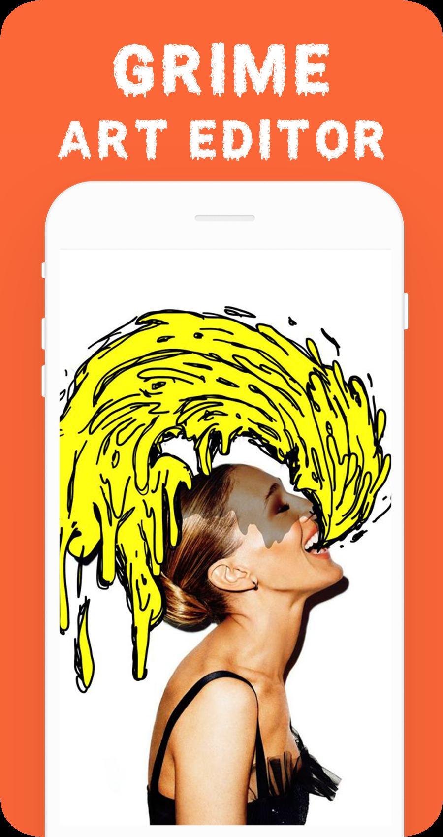 Aplikasi android gratis Grime Art Editor