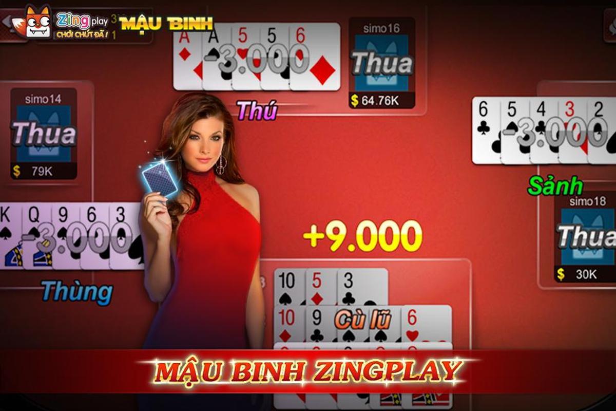 ... Poker VN - Mậu Binh – Binh Xập Xám - ZingPlay ảnh chụp màn hình 5 ...