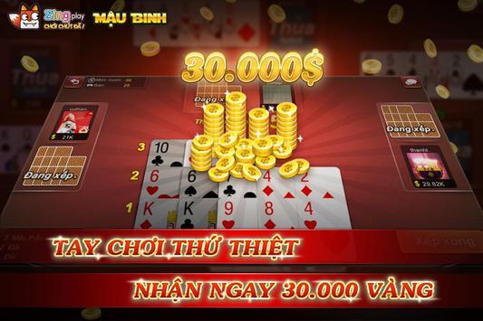 Poker VN - Mậu Binh – Binh Xập Xám - ZingPlay screenshot 9