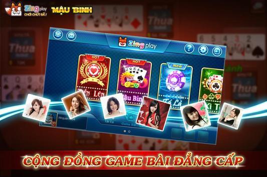Poker VN - Mậu Binh – Binh Xập Xám - ZingPlay screenshot 1
