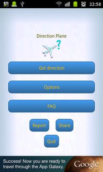 Direction plane poster