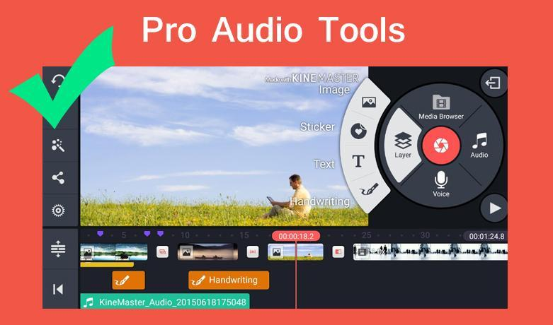 Pro Kine Master + Manual best Free video editor for Android