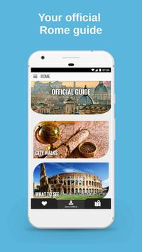 ROME City Guide, Offline Maps, Tours and Hotels ポスター
