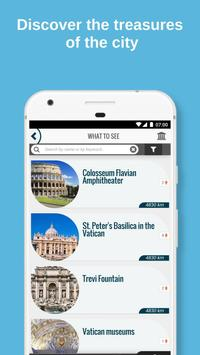 ROME City Guide, Offline Maps, Tours and Hotels スクリーンショット 1