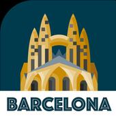 BARCELONA Reiseführer - Karte und Touren Zeichen