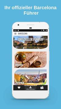 BARCELONA Reiseführer - Karte und Touren Plakat
