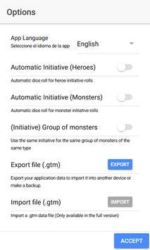 D&D Tool - Initiative Tracker screenshot 1