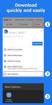 Video Downloader for Facebook पोस्टर