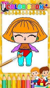 Doll Coloring Book-Surprise Girl LoI screenshot 3