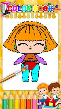 Doll Coloring Book-Surprise Girl LoI screenshot 6