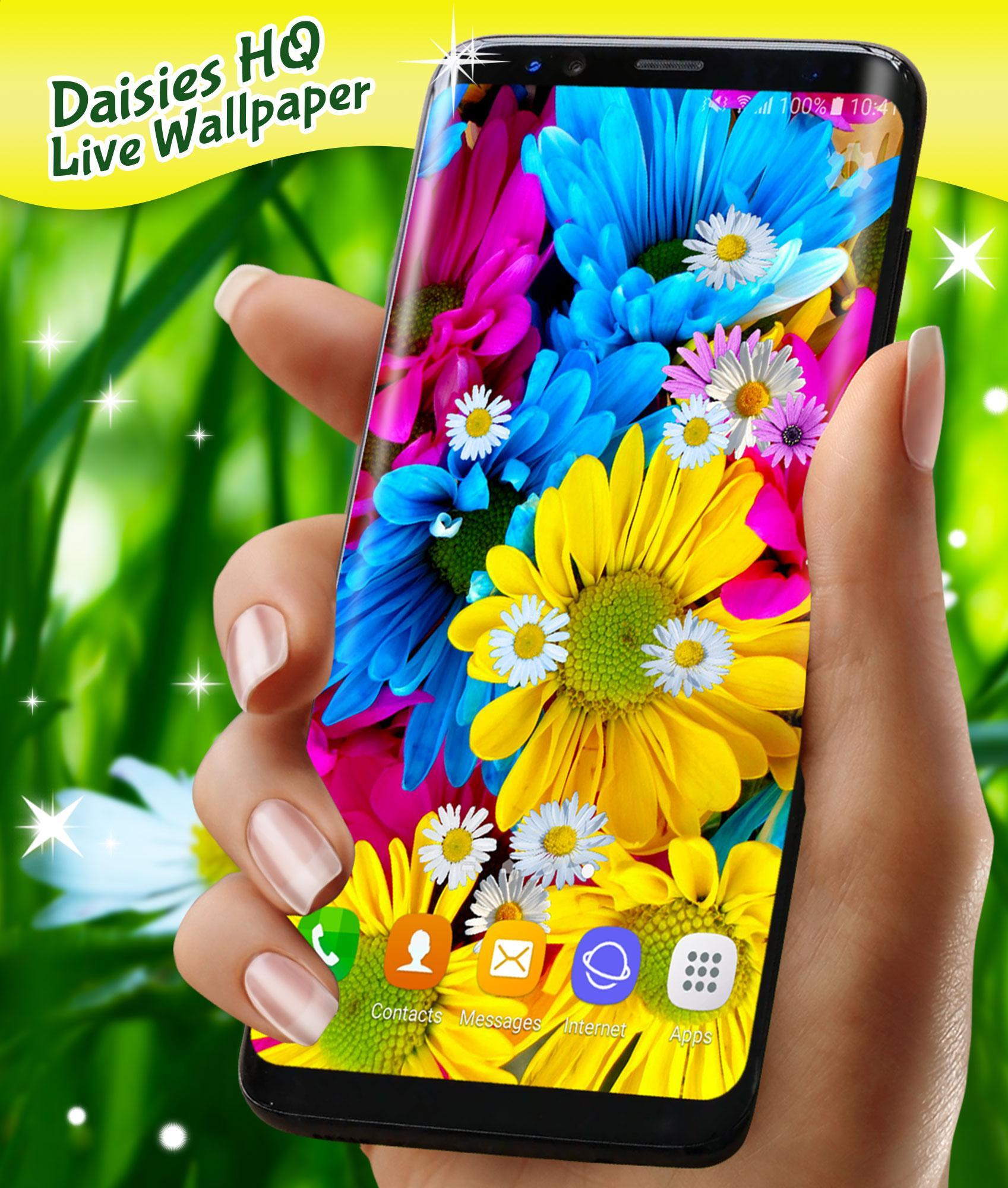 3D Daisy Live Wallpaper 🌼 Spring Field Themes for Android