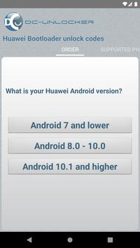 DC Huawei Bootloader Codes poster