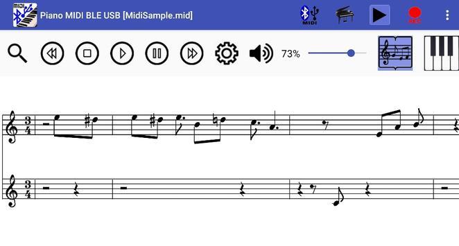 Piano MIDI Bluetooth USB screenshot 4