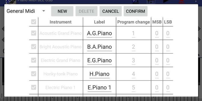 Piano MIDI Bluetooth USB screenshot 5