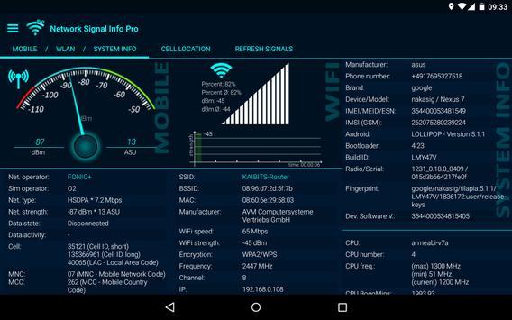 Network Signal Info Screenshot 9