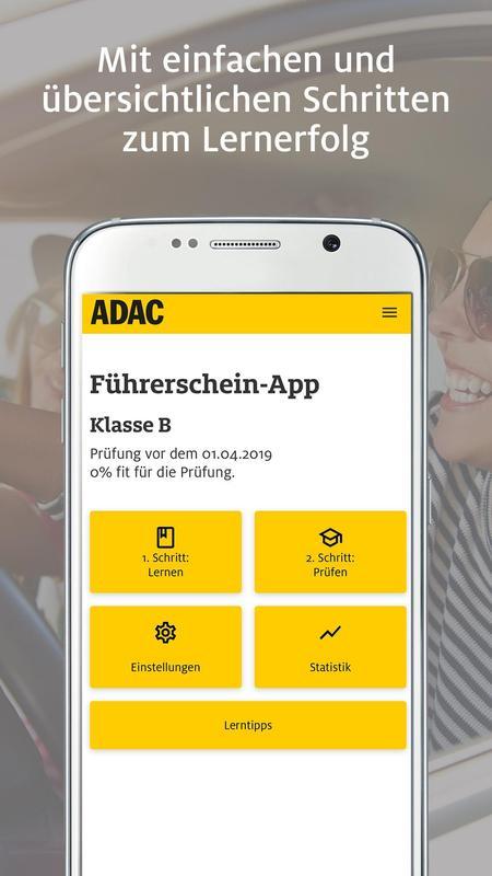adac f hrerschein for android apk download. Black Bedroom Furniture Sets. Home Design Ideas
