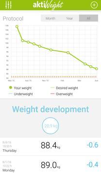 Weight Tracker aktiWeight screenshot 1