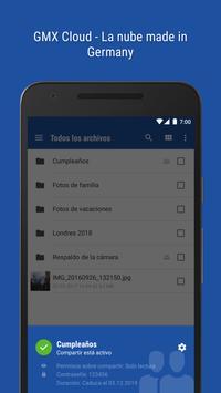 GMX - Mail & Cloud captura de pantalla 3