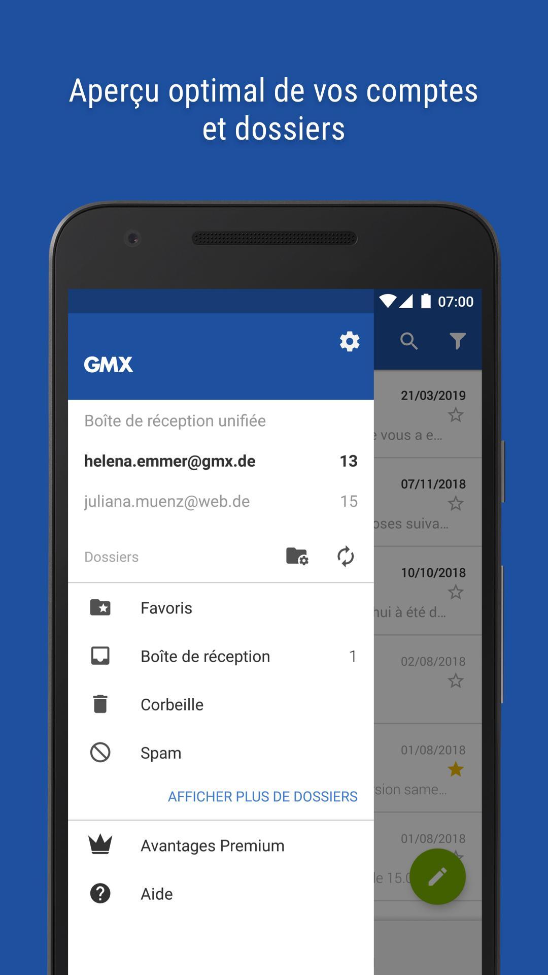 GMX - Mail & Cloud pour Android - Téléchargez lAPK
