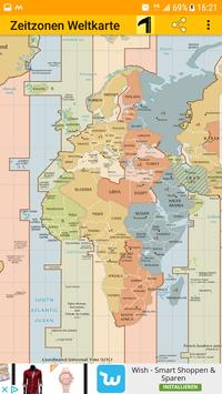 Time Zone Map poster