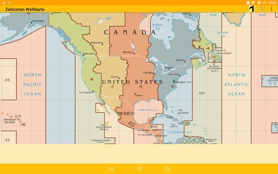 Time Zone Map screenshot 5