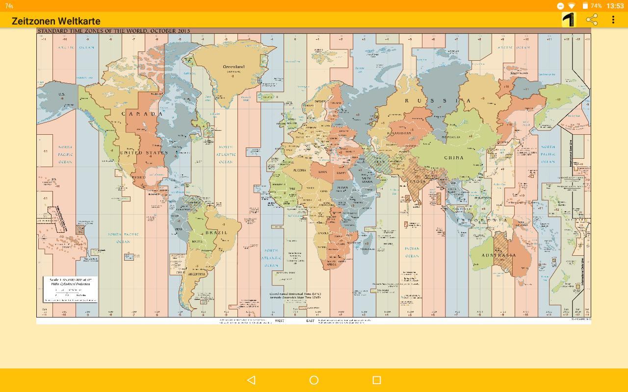 Time Zone Map for Android - APK Download