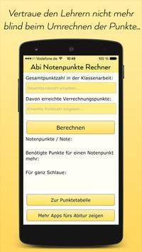 Abitur Notenpunkte Rechner poster