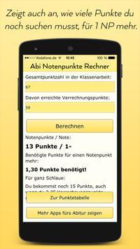 Abitur Notenpunkte Rechner screenshot 2