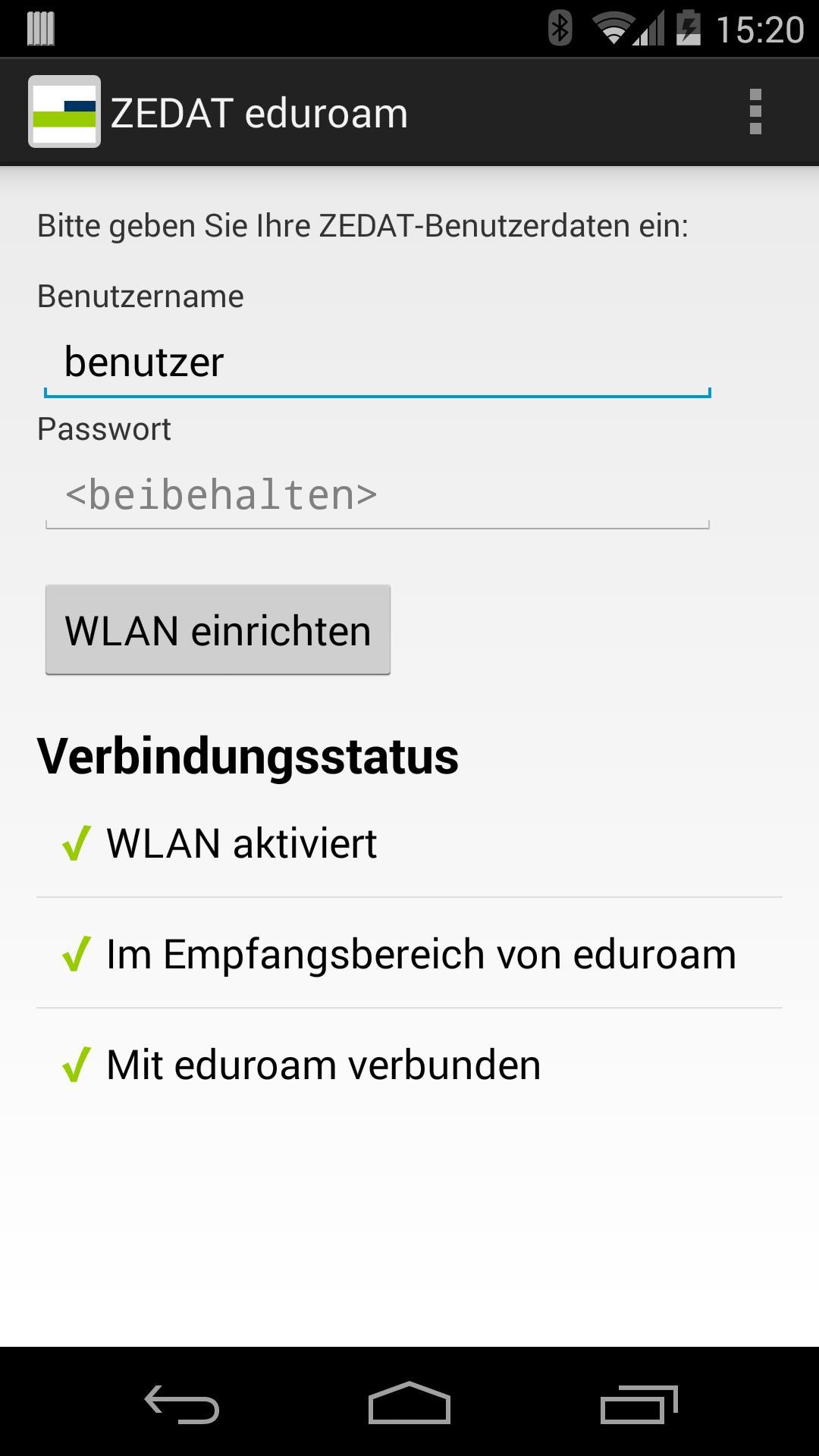 ZEDAT eduroam for Android - APK Download