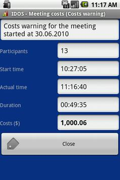 IDOS - Meeting costs screenshot 1