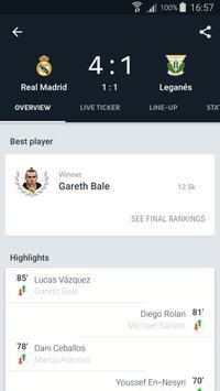 Onefootball captura de pantalla 4
