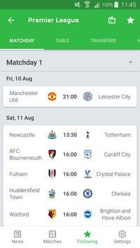 Onefootball imagem de tela 6