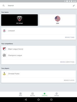 Onefootball captura de pantalla 9