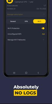 VPN by CyberGhost - Fast & Secure WiFi Protection screenshot 2