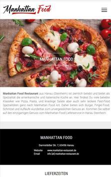 Manhattan Food (Hanau) poster