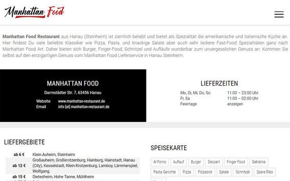 Manhattan Food (Hanau) screenshot 6