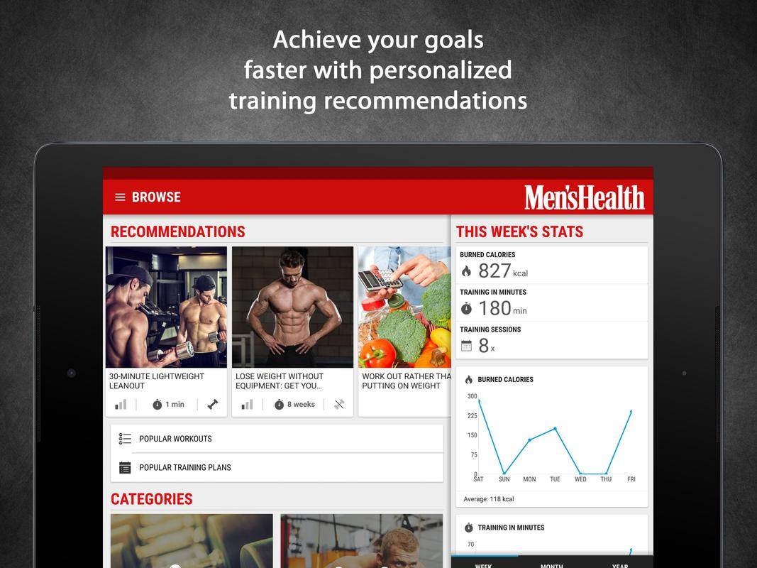 f8c70d65163 Mens Health Fitness Trainer - Workout   Training for Android - APK ...