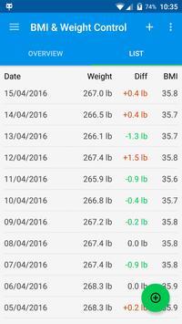 BMI & Weight Control screenshot 1
