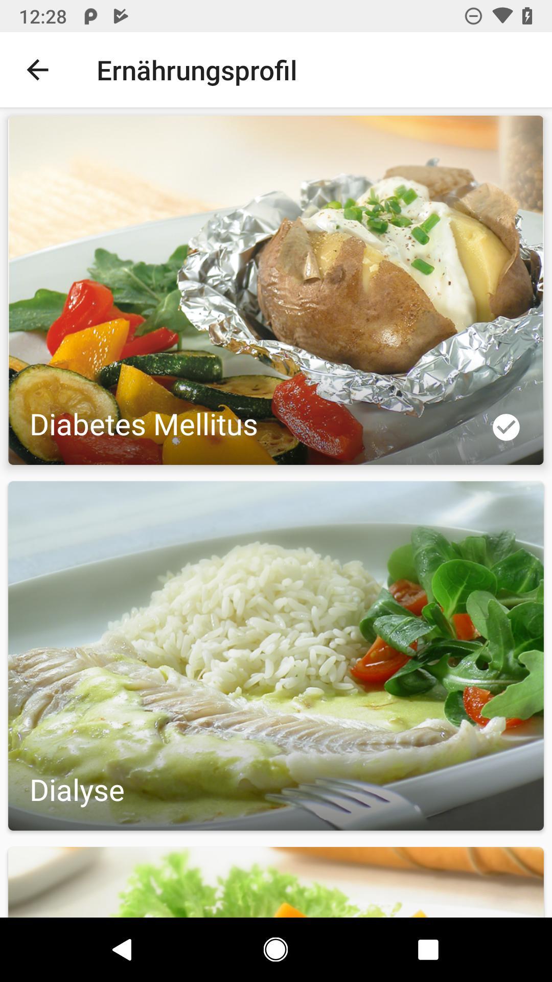Diät für einen Diabetiker mit Dialyse