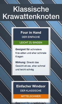 Krawatten binden - DEUTSCH पोस्टर