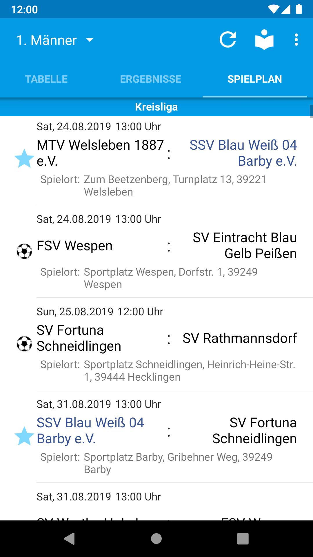 Ssv Blau Weiss 04 Barby Fussball For Android Apk Download