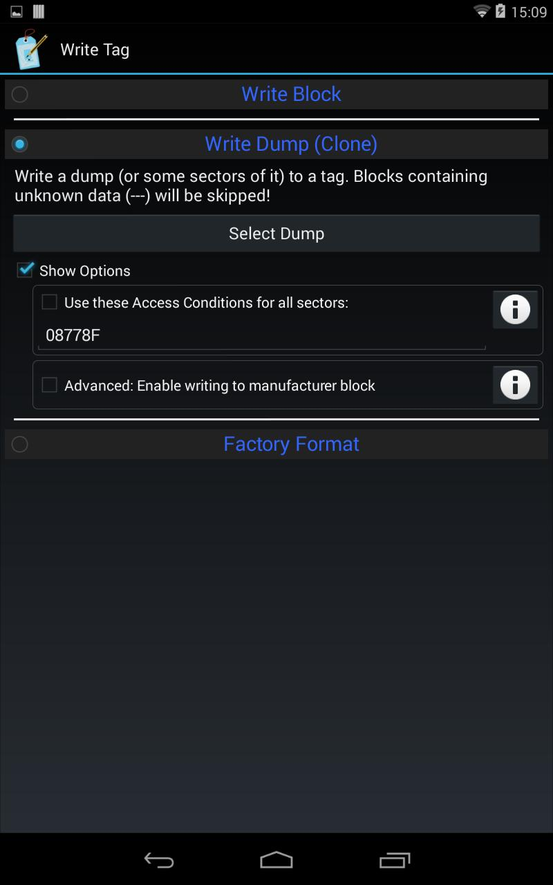 MIFARE Classic Tool for Android - APK Download