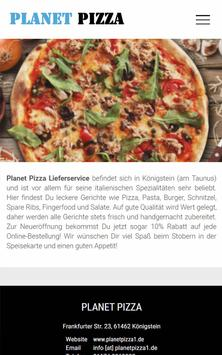 Planet Pizza (Königstein) poster