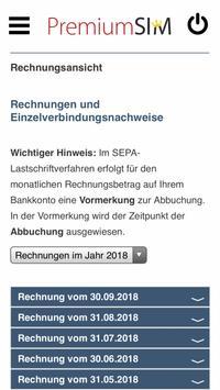 PremiumSIM Servicewelt screenshot 1