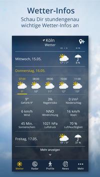 Wetter.de – Wetter, Regenradar und Wetterprofile Screenshot 1