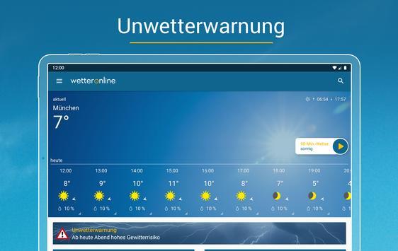 Wetter Online mit Unwetterwarnung Screenshot 15