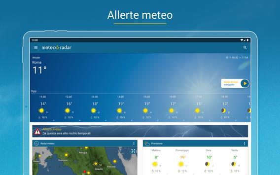 12 Schermata Meteo & Radar: con allerte meteo