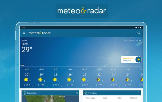 7 Schermata Meteo & Radar: allerte meteo
