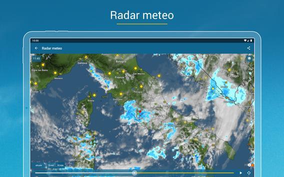 9 Schermata Meteo & Radar: con allerte maltempo